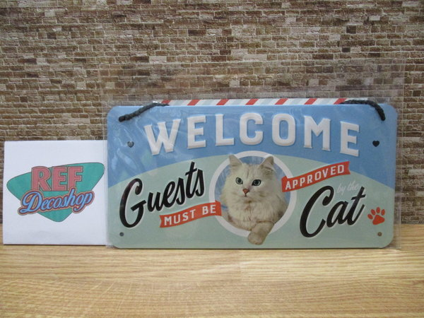 Welcome guest must be approved by the cat