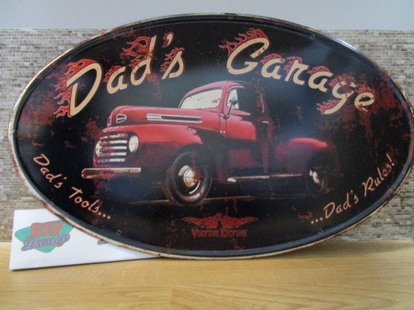 Dad's garage Ford 56 x 34 cm