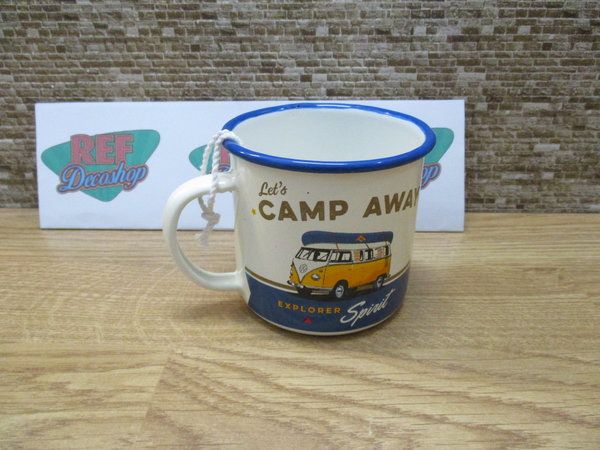 Volkswagen ´´ lets camp away ´´ Emaille mok