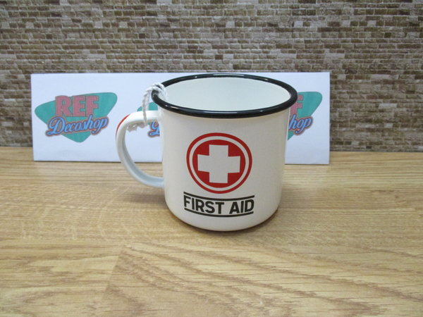 First aid Emaille mok
