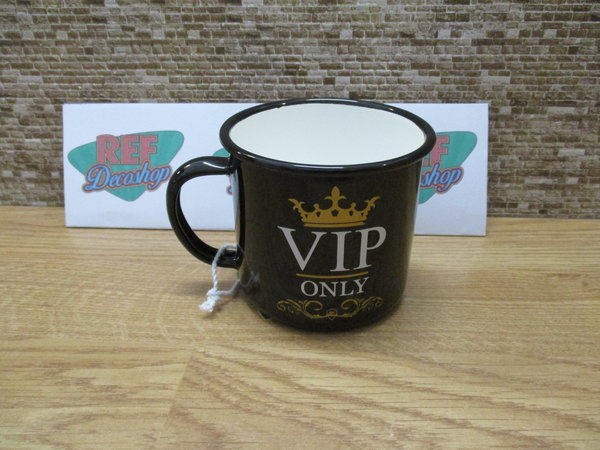 VIP Only Emaille mok