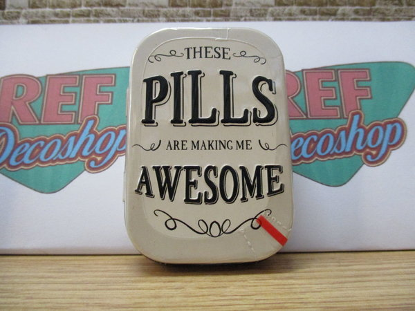 These pills are making me awesome mintdoosje