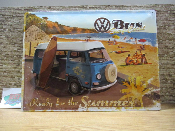 Volkswagen Bus Ready fot the summer 30 x 40 cm