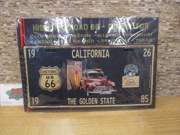 California '' the golden state '' kenteken