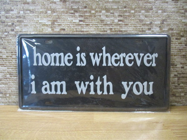 Home is ... 15 x 30 cm bord